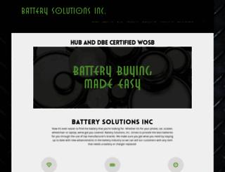 batterysolutionsinc.com screenshot