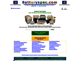 batteryspec.com screenshot