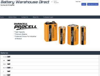 batterywarehousedirect.com screenshot
