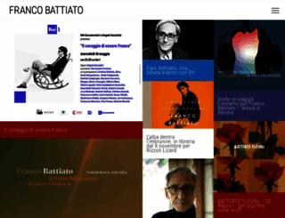 battiato.it screenshot