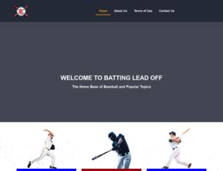 battingleadoff.com screenshot