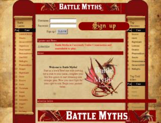 battlemyths.com screenshot