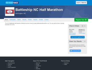 battleshipnchalfmarathon.itsyourrace.com screenshot
