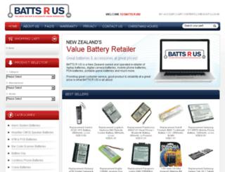 battsrus.co.nz screenshot