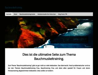 bauchmuskeltraining.eizzy.de screenshot