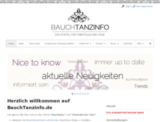 bauchtanzinfo.de screenshot
