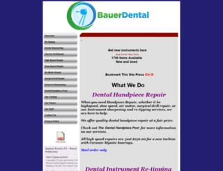 bauerdentalhandpiecerepair.com screenshot