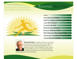 baumannutrition.com screenshot