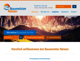 baumeister-reisen.de screenshot
