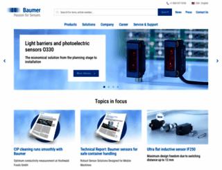 baumer.com screenshot