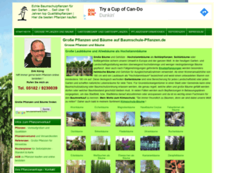 baumschule-pflanzen.de screenshot
