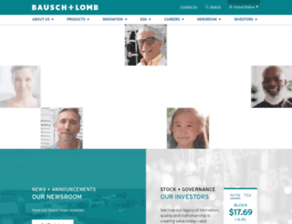 bausch.com screenshot