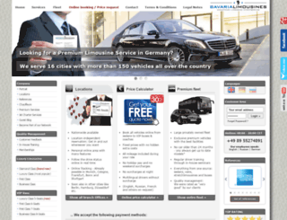 bavaria-limousines.com screenshot