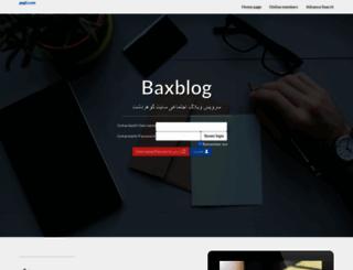 baxblog.com screenshot