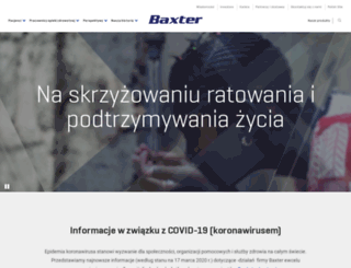 baxter.com.pl screenshot