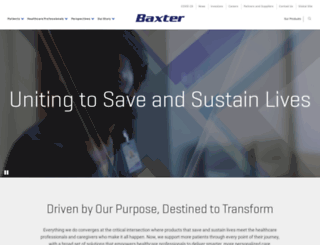 baxter.com screenshot