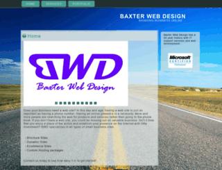 baxterwebdesign.com screenshot