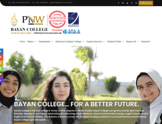 bayancollege.edu.om screenshot