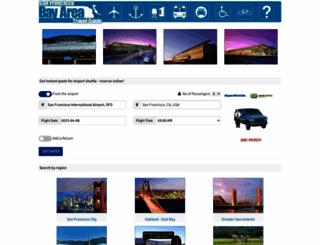 bayareashuttles.net screenshot