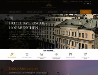 bayerischerhof.de screenshot