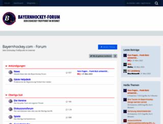 bayernhockey-forum.de screenshot