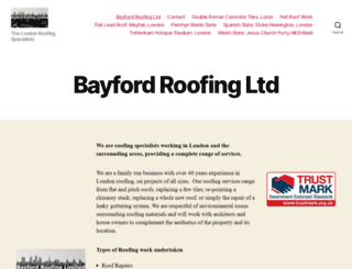 bayfordroofing.co.uk screenshot