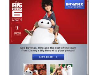 baymaxphotobomb.com screenshot