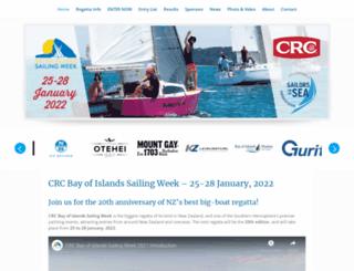 bayofislandssailingweek.org.nz screenshot