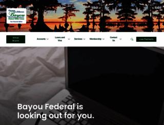 bayoufcu.org screenshot