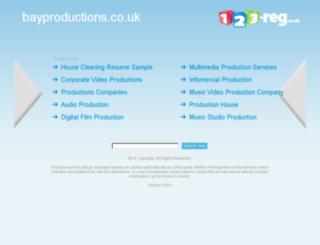 bayproductions.co.uk screenshot