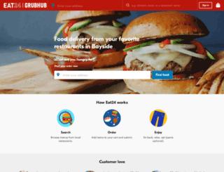 bayside.eat24hours.com screenshot
