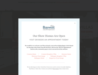 baywesthomes.com screenshot