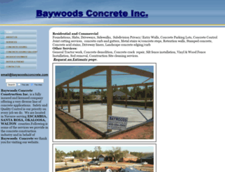 baywoodsconcrete.com screenshot