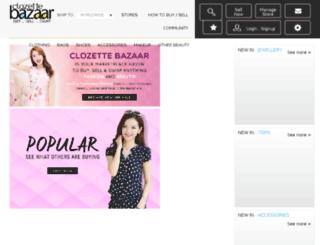 bazaar.clozette.co screenshot