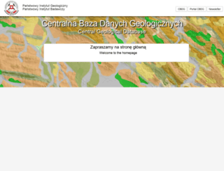 bazagis.pgi.gov.pl screenshot