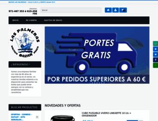 bazarlaspalmeras.com screenshot