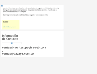 bazaya.com.co screenshot