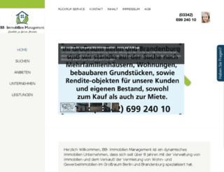 bb-immobilienmanagement.de screenshot