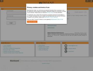 bb2.doane.edu screenshot