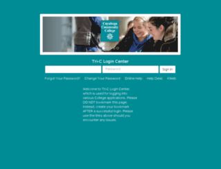 bblearn.tri-c.edu screenshot
