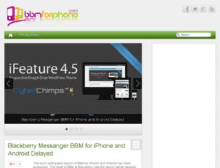 bbmforiphone.com screenshot