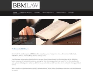 bbmlaw.co.za screenshot