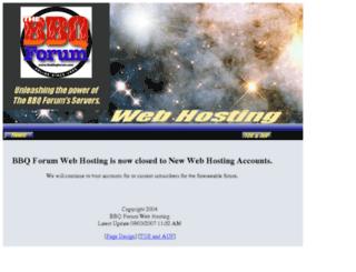 bbqforumhosting.com screenshot