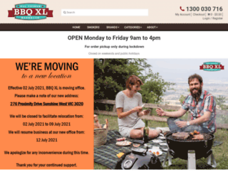 bbqxl.com.au screenshot
