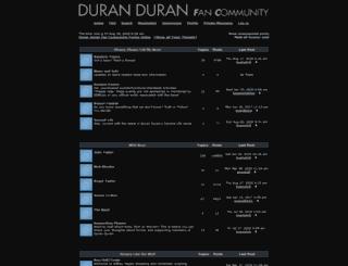 bbs.duranduranmusic.com screenshot