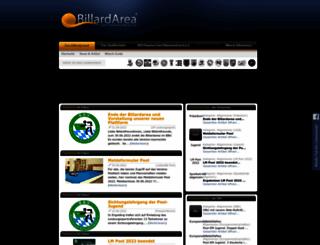 bbv.billardarea.de screenshot