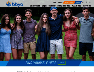 bbyo.org screenshot