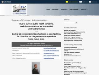 bca.lacity.org screenshot