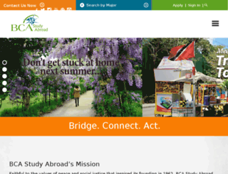 bcastudyabroad.org screenshot