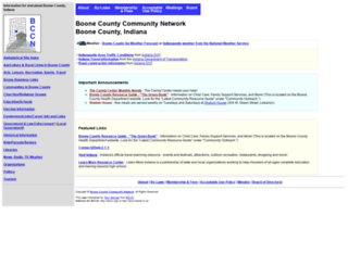 bccn.boone.in.us screenshot